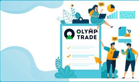 Come accedere e verificare l'account in Olymp Trade