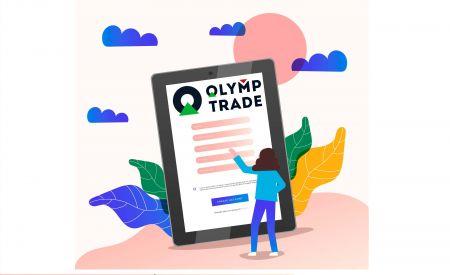 Come aprire un conto di trading in Olymp Trade