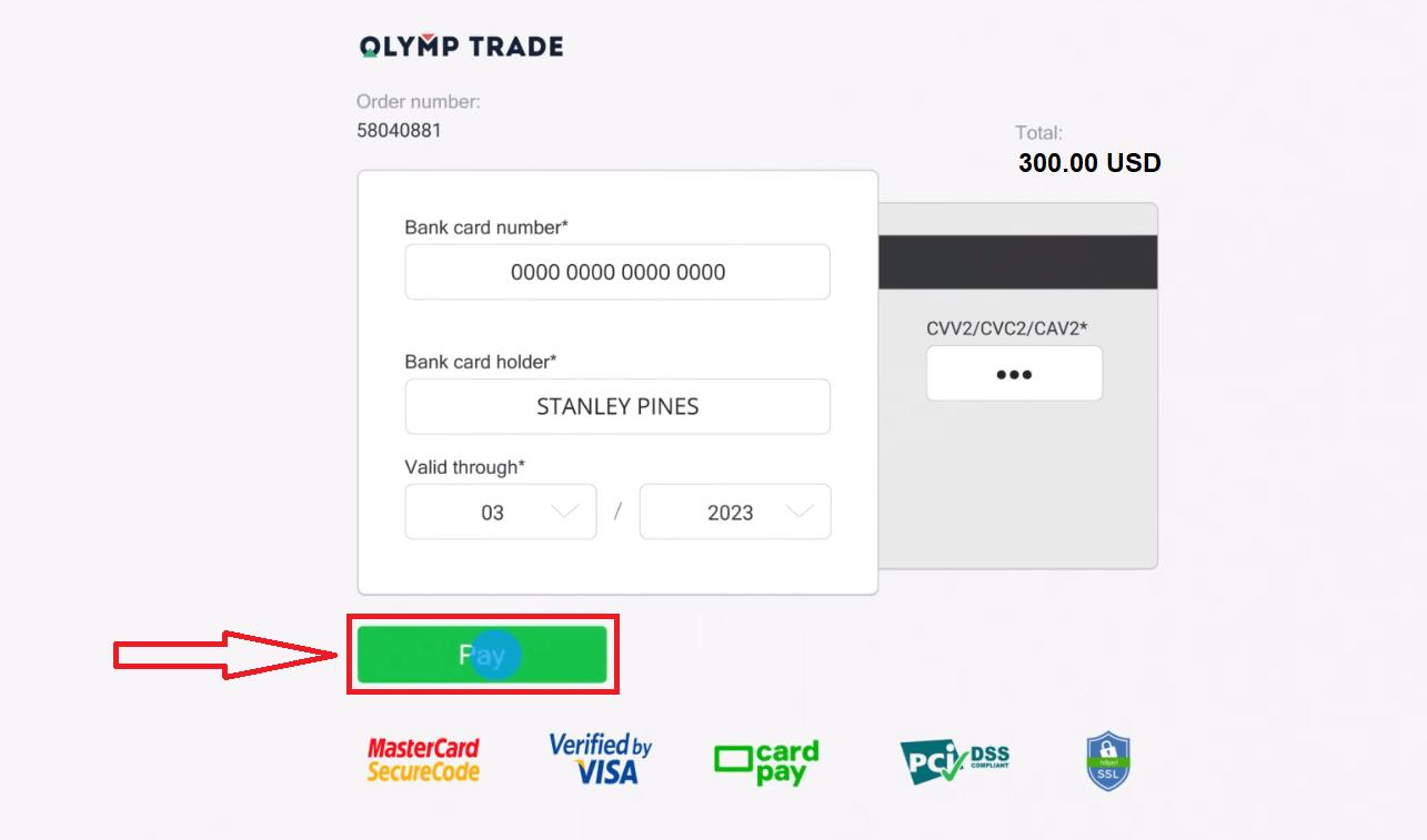 Come accedere e depositare denaro in Olymp Trade