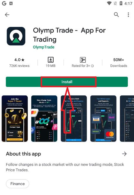 Come accedere e iniziare a fare trading su Olymp Trade
