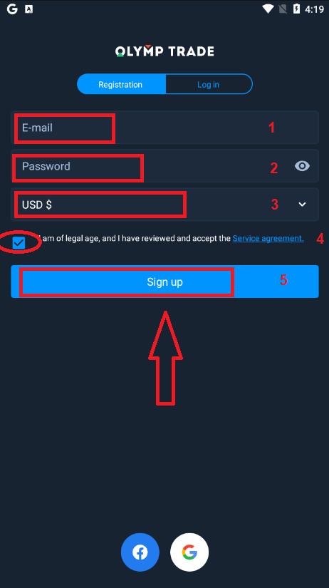 Come registrarsi e depositare denaro su Olymp Trade